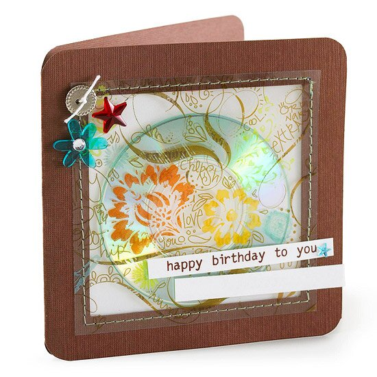 Brown And Green Cd Birthday Card