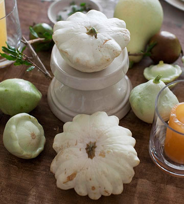 White squash on table