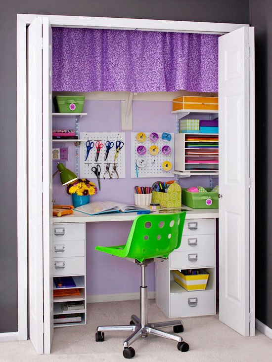 Home Office Closet: Private Work Space