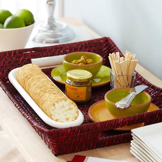 Easy appetizer serving tray