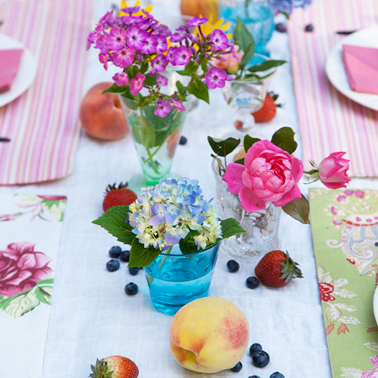 Fresh Fruit Outdoor Table Accents