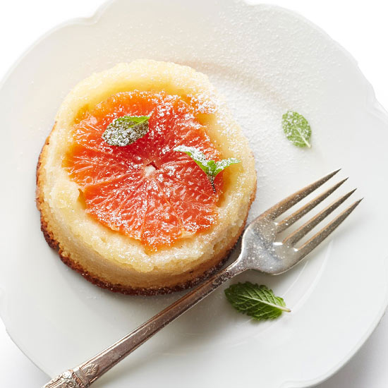 Upside-Down Grapefruit Cake
