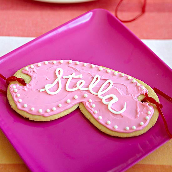 Girls spa party cookie