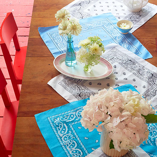 bandana table runner