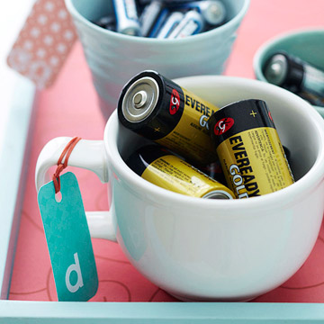 Cup of batteries