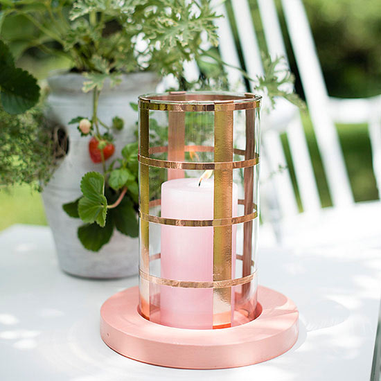 Copper candle holder craft