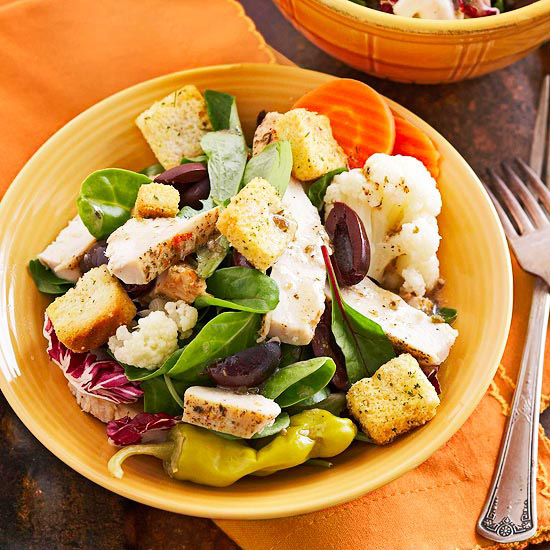Mediterranean Chicken Salad with Greek Dressing