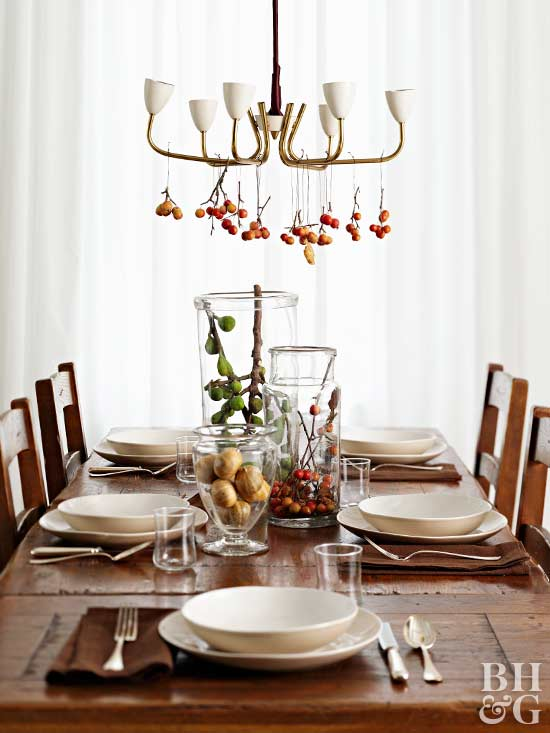 fall holiday place settings