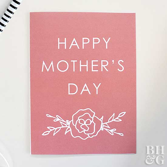 pink mothers day printable card