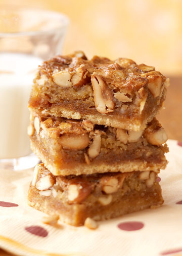 Gooey Mixed Nut Bars