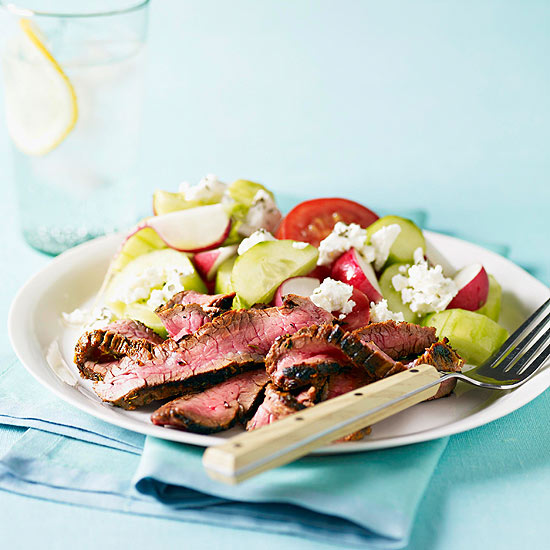 Greek Style Steak and Tomato Salad