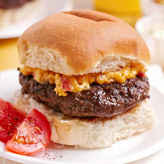 House-Made Burger with Pimiento Cheese
