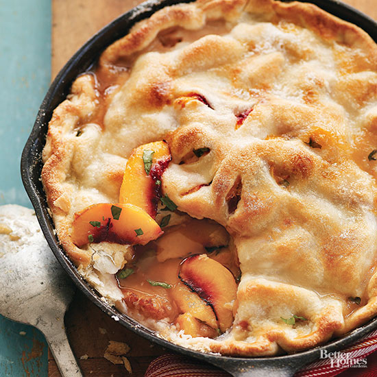 Grilled Skillet Peach Pie