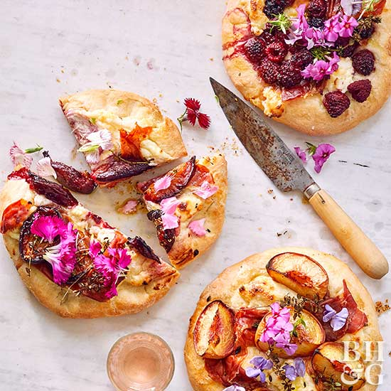 Berry & Stone Fruit Ricotta Pizzas