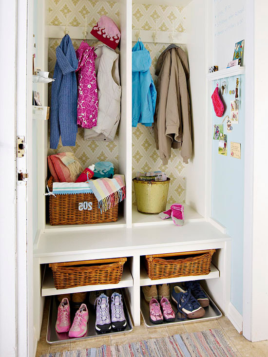 Mudroom Closet: Transformed Space