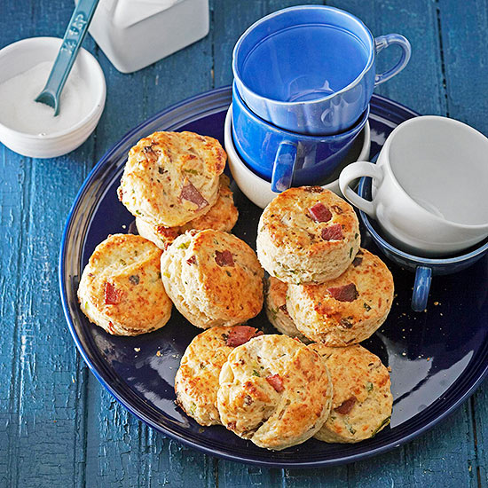 Peppered Bacon, Green Onion, and Buttermilk Scones