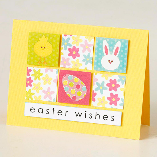 Easter Wishes Checkerboard Card