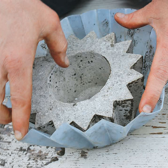 Remove the Molds and Smooth the Concrete