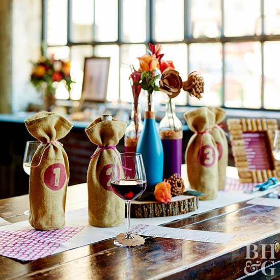 DIY Burlap Wine Bag