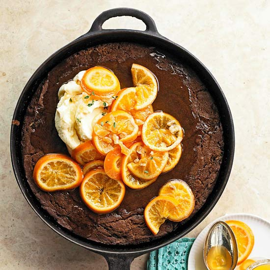 Nancy Wall Hopkins's Chocolate Gingerbread with Simmered Oranges