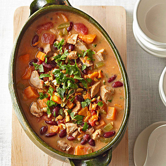 Red Bean, Chicken, and Sweet Potato Stew
