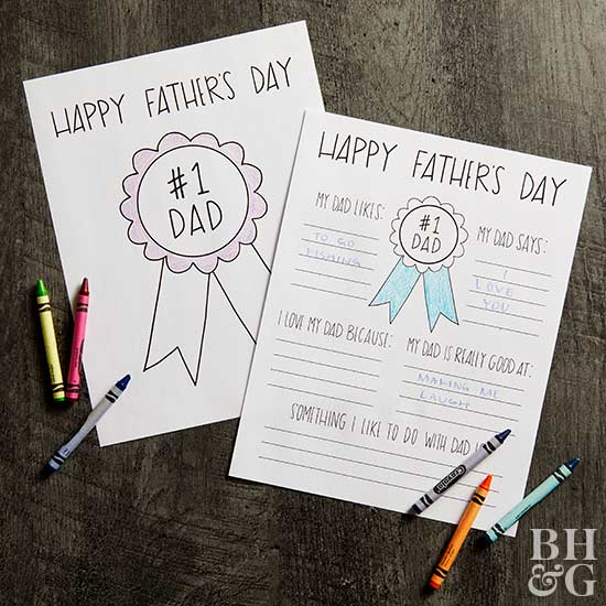 printable fathers day fill-in sheets