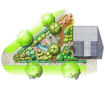 Corner-Lot Landscape Plan