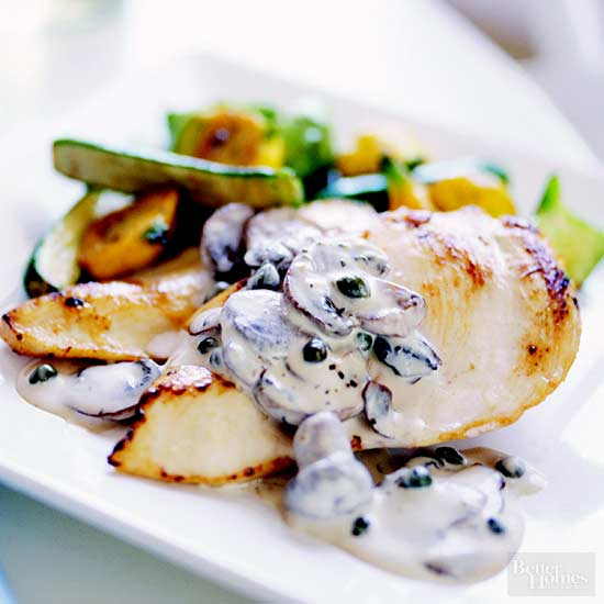 Chicken with Creamy Mushrooms