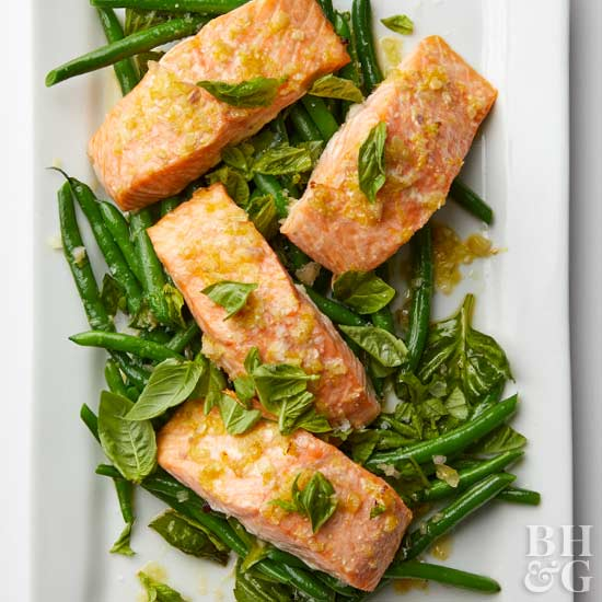 Roasted Salmon & Green Beans