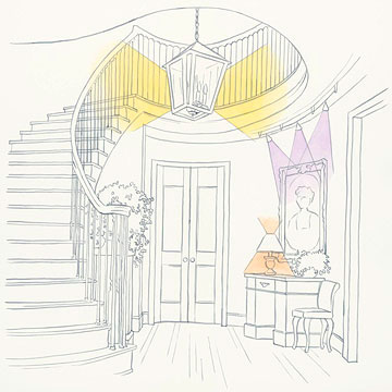 Entryway lighting illustration