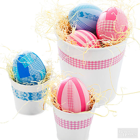 Plaid Easter Eggs