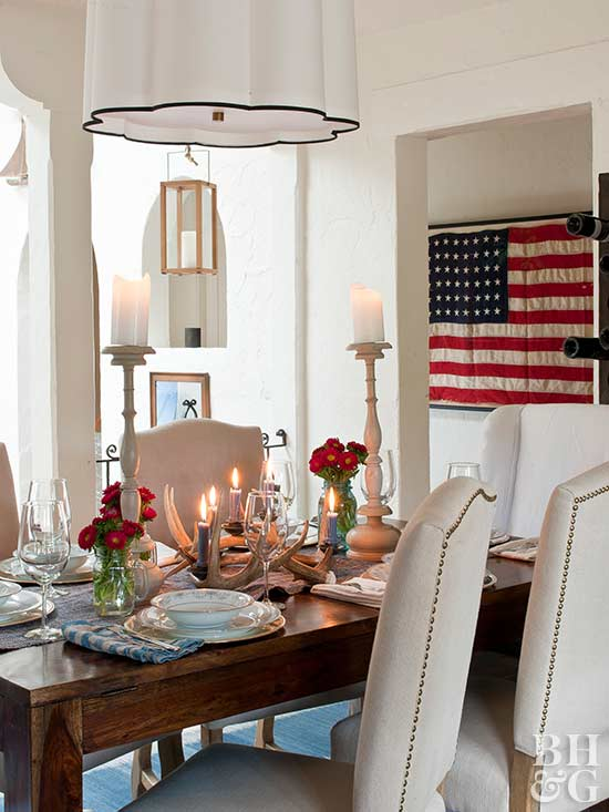 flag, USA, dining