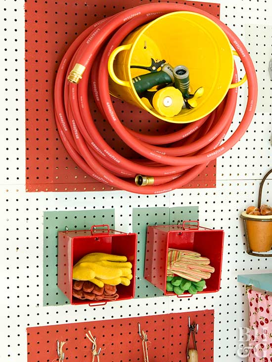 ideas for garage organization, home improvement, indoors, house, home, orgaqnize, shelving, bhg, bhg.com