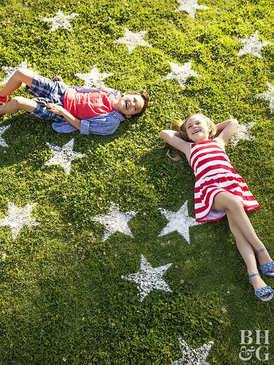 ff_stars on grass, kids laying in grass, stars