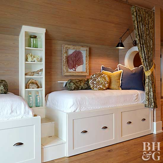 built-in beds with storage