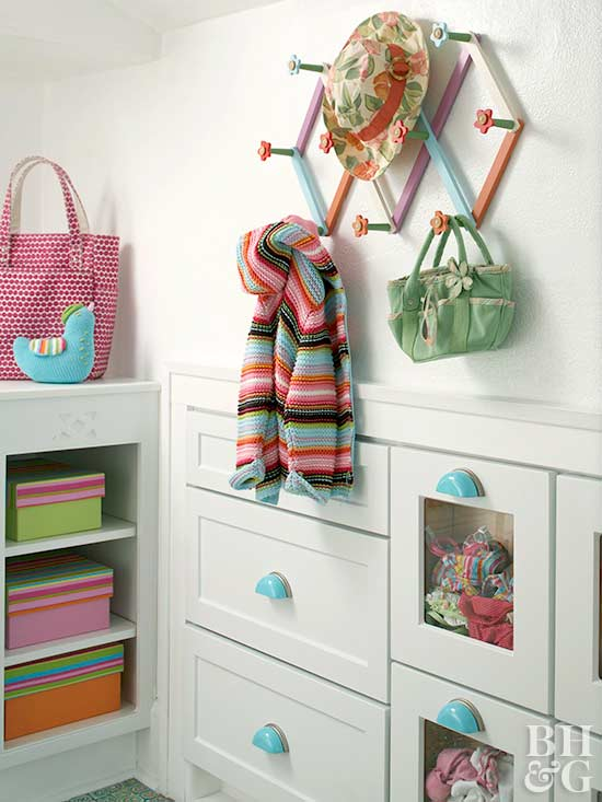 storage cabinets and hanging solution