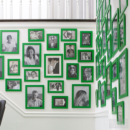 Green Picture Frames Display