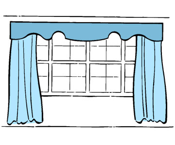 panels and valance