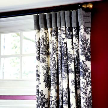 DiningRoomsAdditional_Black and White patterned curtains