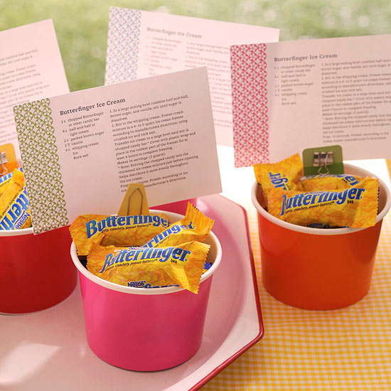 Butterfinger Recipe Card