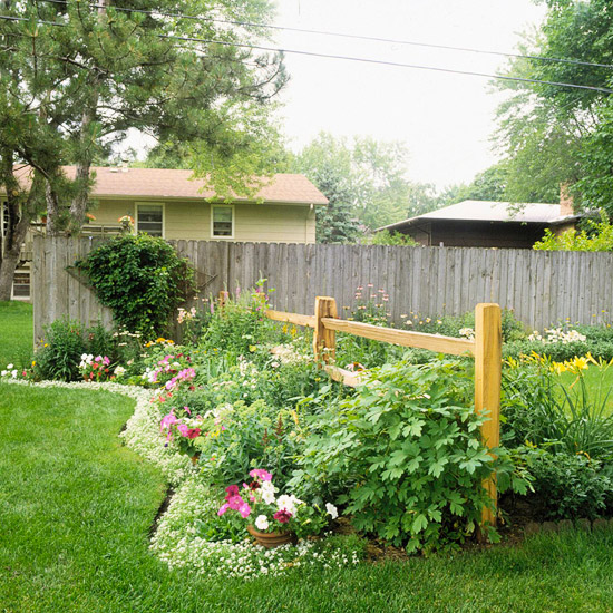 Garden Edging with Plants