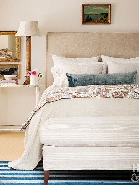 White Light Beige Bedding