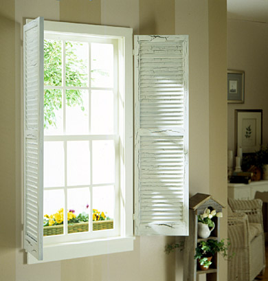 Window with Interior Shutters