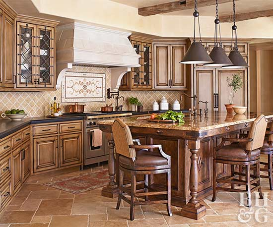 dark tuscan kitchen