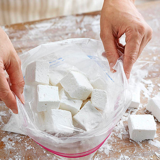 Coating marshmallows