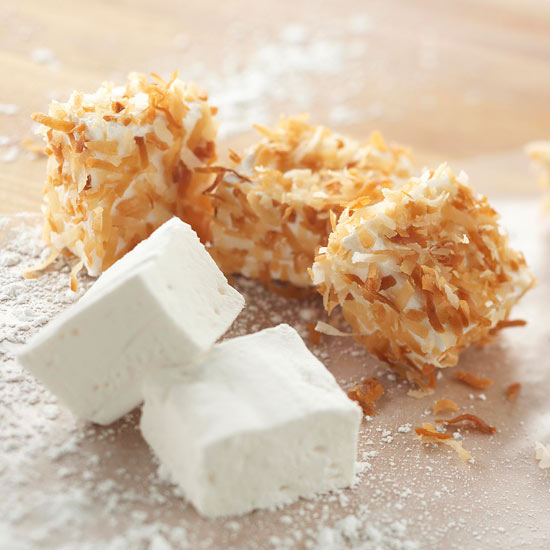 Coconut marshmallows and regular marshmallows