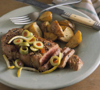 Grilled Steaks with Martini Twist