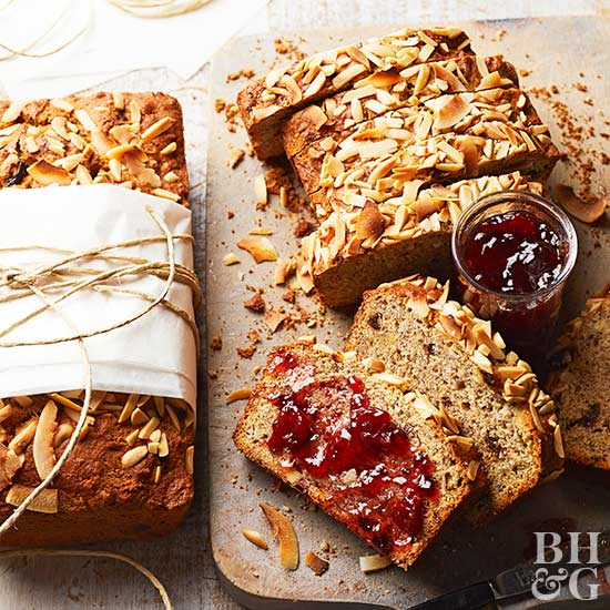 Cherry-Coconut Banana Bread, cherry, banana bread