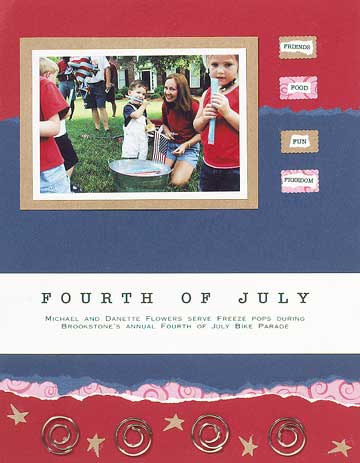 Fourth of July Scrapbook Page