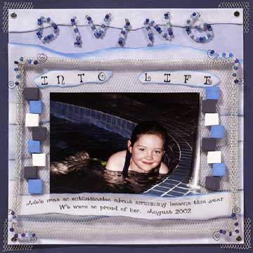 Diving Into Life Scrapbook Page